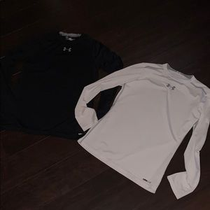 2 YOUTH LARGE LONG SLEEVE UNDER ARMOUR